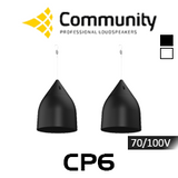"""Community CP6 6.5"""" 70/100V Coaxial Pendant Speakers (Pair)"""