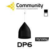 "Community DP6 6.5"" 70/100V High Output Coaxial Pendant Speaker (Each)"