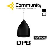 """Community DP8 8"""" 70/100V High Output Coaxial Pendant Speakers (Each)"""