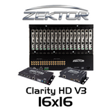 Zektor Clarity HD V3 16x16 HDMI Over HDBaseT Matrix With SoloCAT HD Receivers