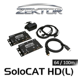 Zektor SoloCAT HD HDMI Over HDBaseT PoE Extender Set (up to 64/100m)