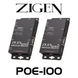 Zigen ZIG-POE-100 PoE HDBaseT HDMI Extender over Cat 5/6/7 (100m)