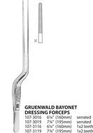 Gruenwald Bayonet Dressing Forceps
