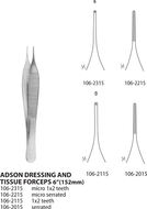 Adson Dressing & Tissue Forceps