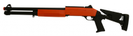 Double Eagle M56DL pump action shotgun fires 3 shot per pump