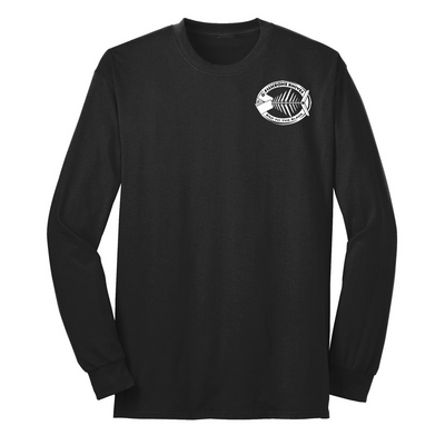 Fishbone Knives Cotton Long Sleeve Shirt - Jet Black - XL