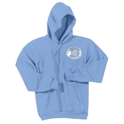 Fishbone Knives Cotton Sweatshirt - Light Blue - M