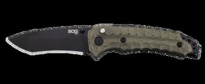 SOG Kiku Assisted Black Tini Tanto Blade VG-10 Folding Knife KU-3002 SOGKU3002