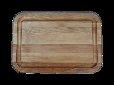 Hardwood Flat Grain Reversible Cutting Board with Juice Ring 16 x 11 Made in USA