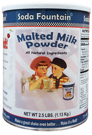 Soda Fountain Malted Milk Powder - 2.5 Pound Canister