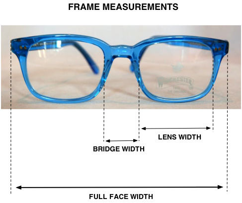 How To Measure Eyeglass Frames Width : Help with sizing to buy the right prescription glasses ...