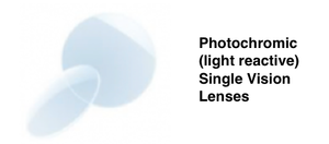 Photochromic Single Vision Prescription Sunglasses (Sun reactive lenses) £65