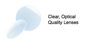 CLEAR OPTICAL QUALITY LENSES