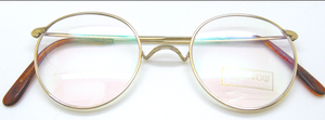 Savile Row Panto Glasses in 18k Rolled Shiny Gold finish from The Old GLasses Shop Ltd