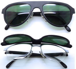 Black Esprit Prescription Frame With Flip-Up Sunglasses - Perfect for driving