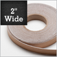 "Adhesive Backed White Polyester Felt Tape - 2"" wide x  100 feet long x 1mm thick.  $26.33 Each"