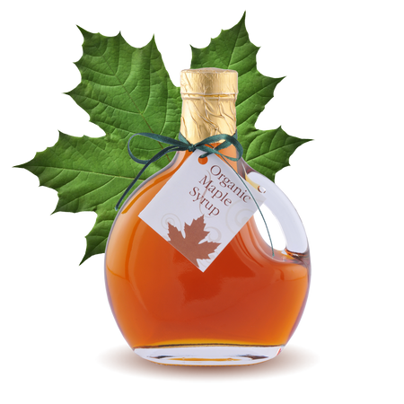 100% pure Organic Maple Syrup Basque Bottle 8.45oz 250ml