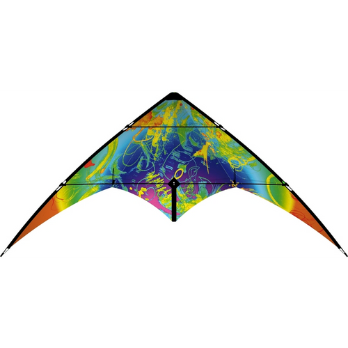 HQ Bebop Crazy Colors Dual Line Stunt Kite