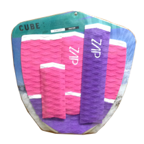 Zap Skimboards Cube Purple Pink White Tail Pad and Arch Bar Set