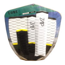 Zap Skimboards Cube Black Yellow White Tail Pad and Arch Bar Set