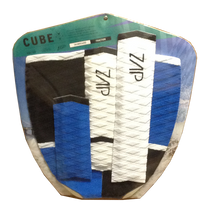 Zap Skimboards Cube Black Blue White Tail Pad and Arch Bar Set