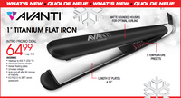 "Avanti 1"" Titanium Flat Iron (matte black finish)"