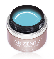 akzentz glacier blue options uv led colour gel