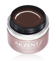 chocolate akzentz chocolat brown options uv led colour gel
