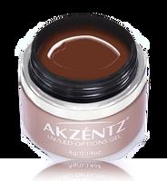 akzentz options uv led colour gel devine cocoa brown