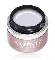 akzentz uv led floral white colour gel
