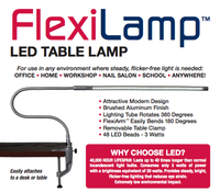 FlexiLamp Compact LED Desk Lamp Light