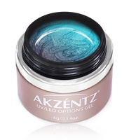 akzentz options uv led chameleon gel ocean pearl
