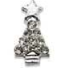 3D Christmas tree (silver) pack of 4