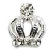 3D Crown (silver) pack of 4