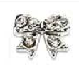 Small 3d silver bow pack of 4