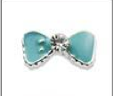 Small 3d Tiffany blue bow pack of 4