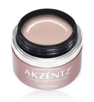akzentz options uv led colour gel eternal blush frost