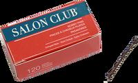 Salon Club Bobby Pins 50mm Brown