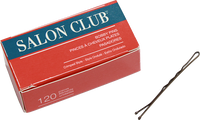 Salon Club Bobby Pins 63mm Brown