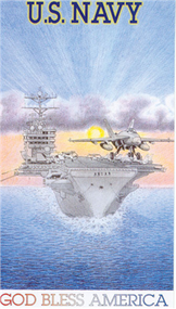 Prayer Card  - Navy