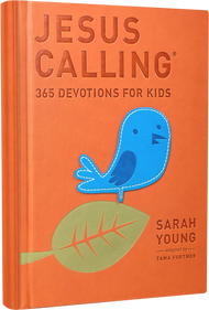 "Devotions written as if Jesus is speaking directly to a child's heart. Based on her original Jesus Calling, this version has been adapted in a language and fashion that kids and tweens can relate to their everyday lives. After many years of writing in her prayer journal, missionary Sarah Young decided to listen to God with pen in hand, writing down what she believed He was saying to her through Scripture. Others were blessed as she shared her writings, until people all over the world were using her devotionals.  They are written from Jesus' point of view, thus the title Jesus Calling.  It is Sarah's fervent prayer that our Savior may bless readers, and now young readers, with His presence and His peace in ever deeper measure. 382 pages ~ 5 1/2"" x 7 1/2'"