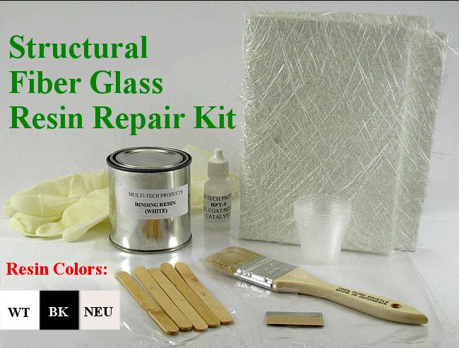 Binding Resin Structural Fiberglass Repair Kit Acrylic Plastic ABS ...