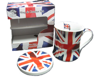 british mug and coaster set