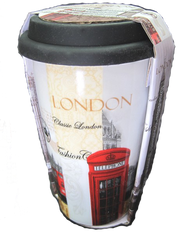 travel mugs London skyline