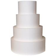 "Foam Round Dummy Cakes 4"" High 120mm"