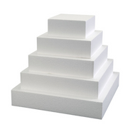 "Foam Square Dummy Cakes 3"" High 75mm"