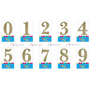 Artwrap Gold number Birthday Candles
