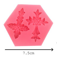 Ornamental Cross Silicone Mould