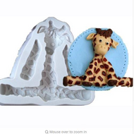 Sitting Giraffe Baby Silcone mold