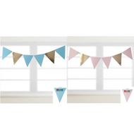 Shmick  30pk Bunting/Party Flags - Gold Polka Dot